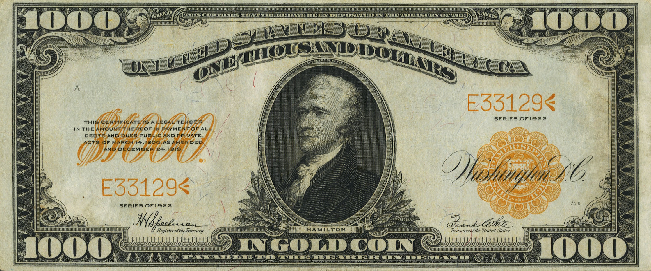 Gold Certificates and Bank Notes For Sale - donckelly.com